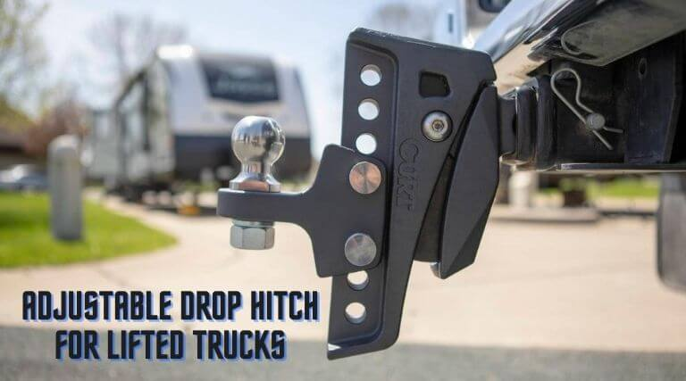 Adjustable drop hitch for lifted trucks